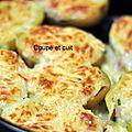 Pommes de terre farcies à la cancoillotte et au lard