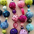 les colliers de perles en laine