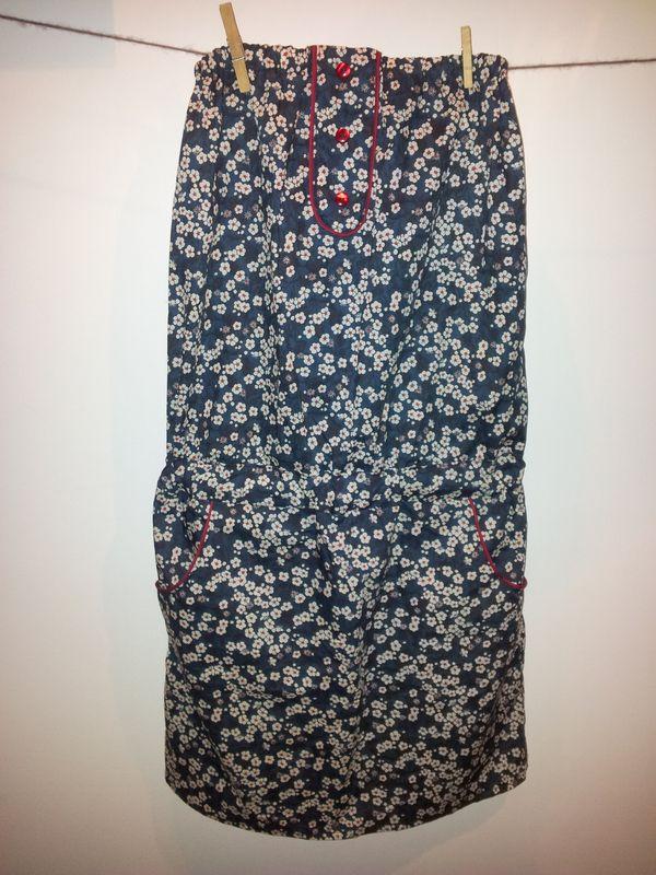 robe bustier femme liberty Mitsi bleu