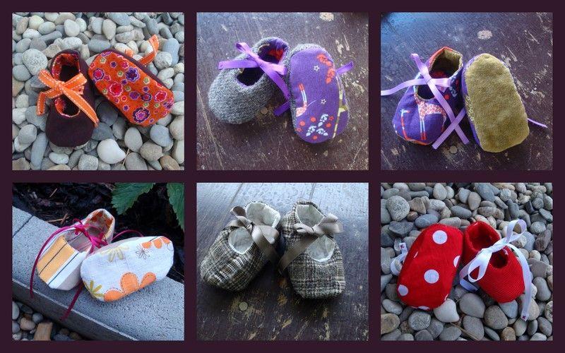 regard détaillé 33634 b2b88 Pour faire de petits chaussons ..... - couture & co ...