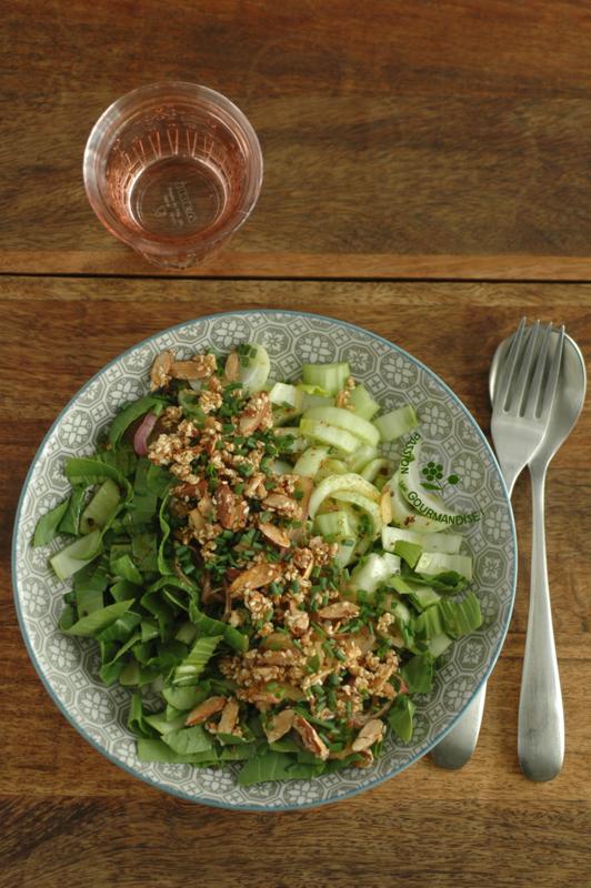 Salade de bok choy, croustillant amande-sésame_1