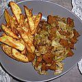 Frites facile et sans friteuse (accompagné de seitan au chou)