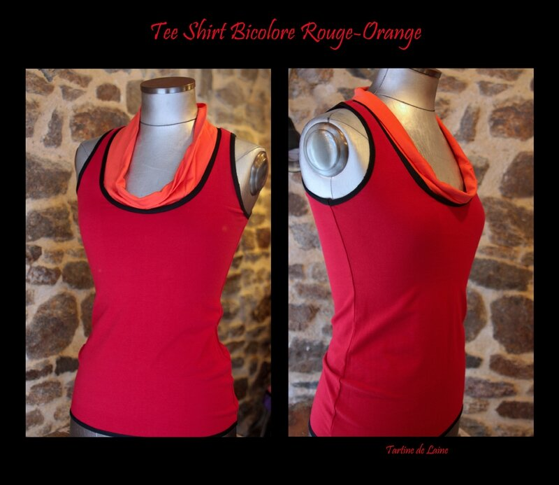 2 TEE SHIRT ROUGE ORANGE