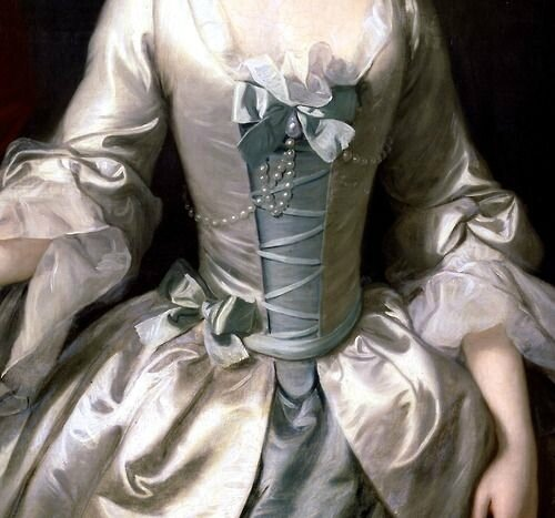 Portrait of a Lady (detail) - Thomas Hudson (1750)