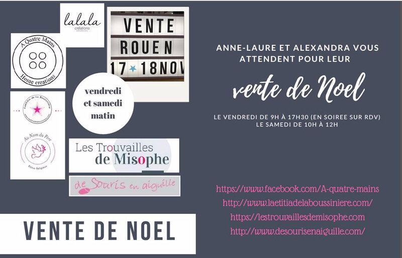 Invitation pour la vente à Rouen (sans adresse)
