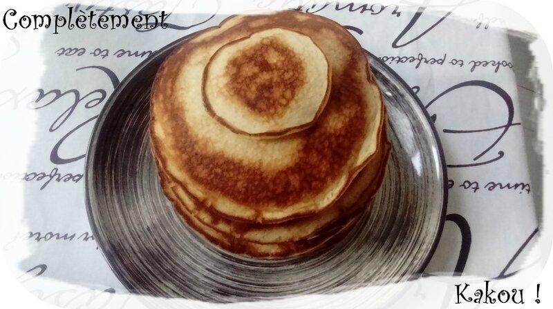 Pancakes lait de chanvre&citron