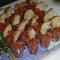 Bruschettas en verrines