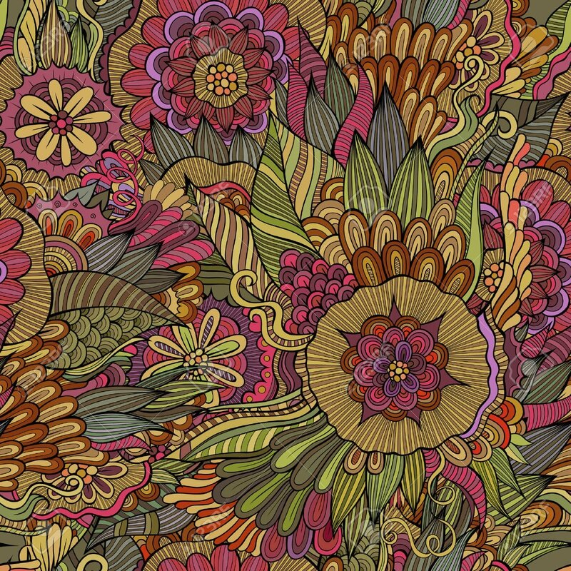 32362783-floral-seamless-pattern-ornemental-Banque-d'images