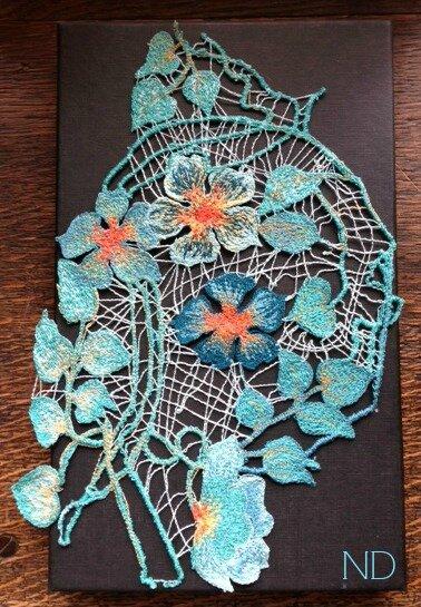 fleur bleu 1003 dentelle