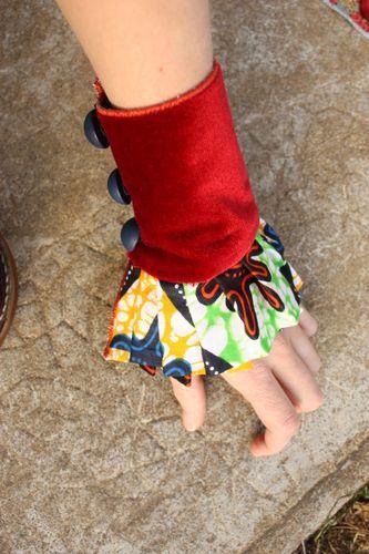 Bracelet manchon à jabot 'circus'