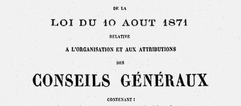 loi 10 août 1871