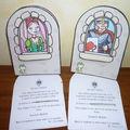 Anniversaire princesses et chevaliers : distribution des cartes d'invitation