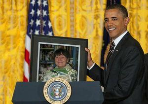 Cathy et Obama