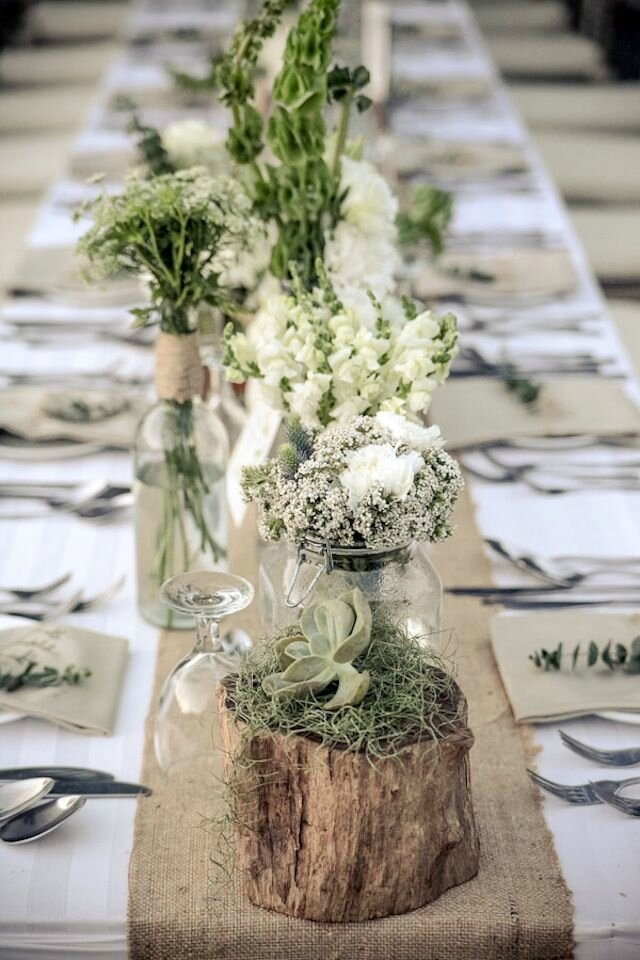 Id es d coration de table pour un mariage champ tre blog for Deco de table champetre