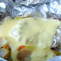 Papillotes de filets de julienne à la sauce hollandaise