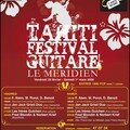Tahiti festival guitare, l'affiche...