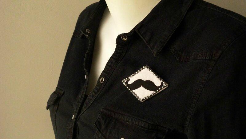 Broche losange Moustache (7)