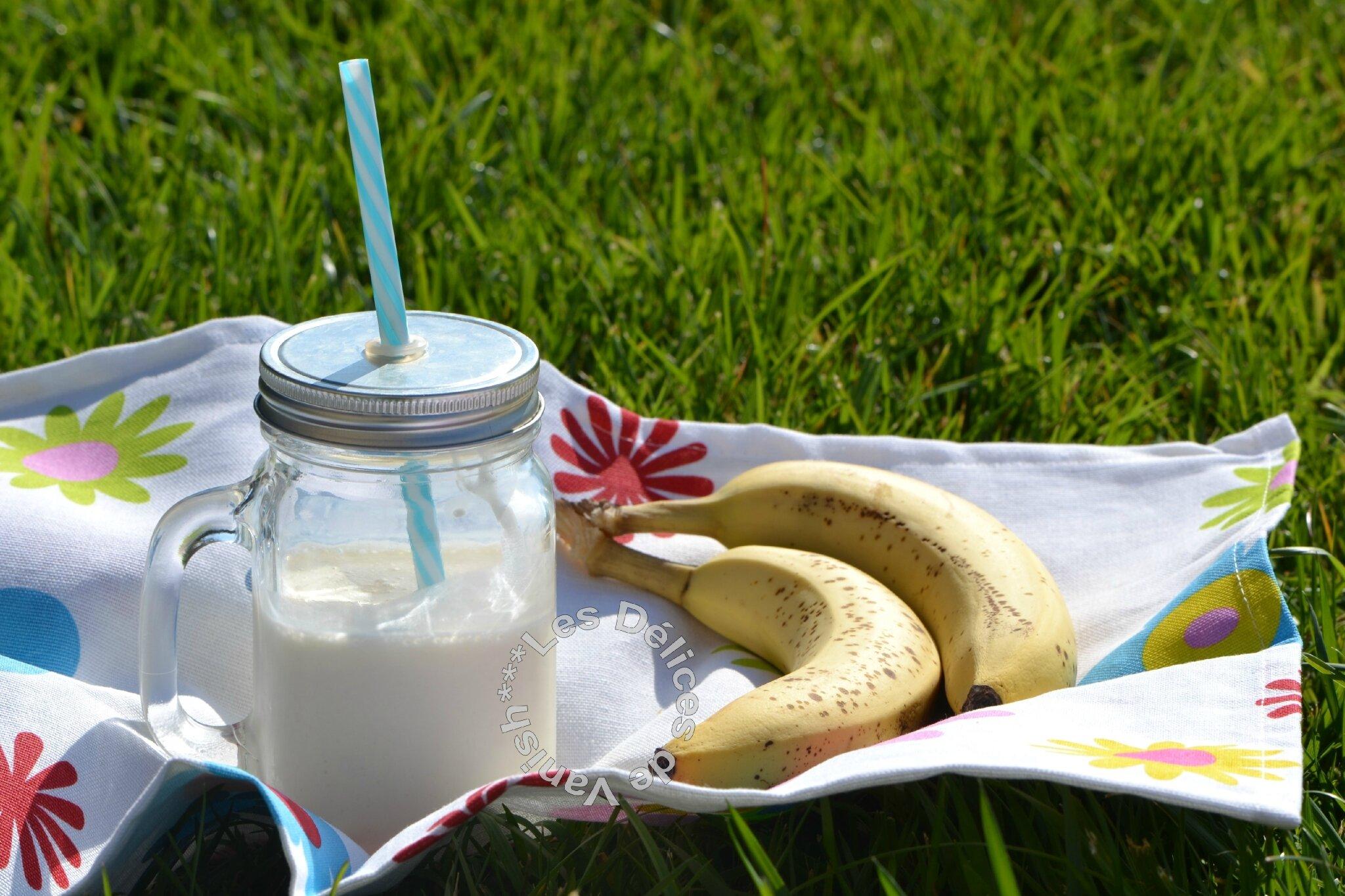 Smoothie banane touche de coco