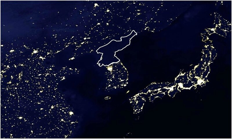 north korea satellite nasa lights OLD