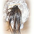 Bonnet loopyyoup blanc et beige