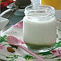 Yaourts au thé matcha & a l'amande - yogures al té matcha & almendra