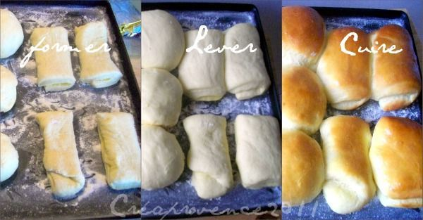 bread house roll collage