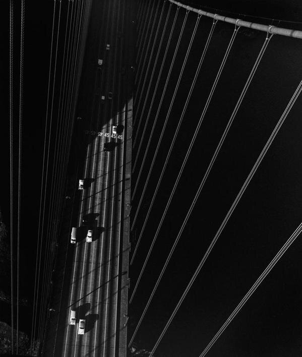 From the North Tower of the Golden Gate Bridge, San Francisco, 1947 by John Gutmann