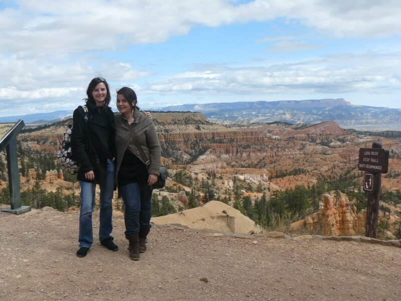 Bryce Canyon : Gaëlle et Aurore