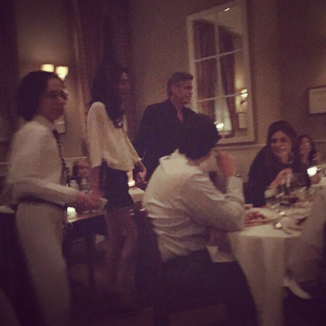 George Clooney and Amal having dinner in NY on 3 April 2015 103289566