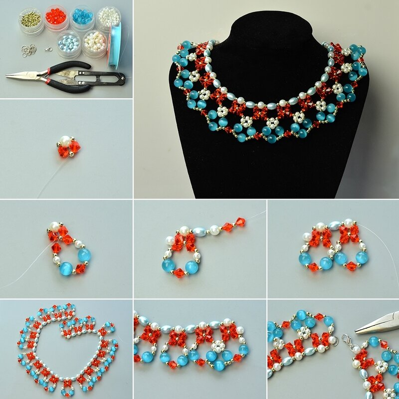 1080-How-to-DIY-Colorful-Cat-Eye-Bead-Bib-Necklace