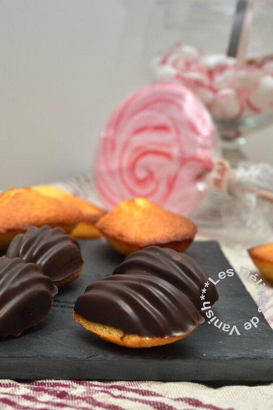 mini madeleines, coques chocolat noir, flexipan