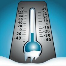 plan grand froid Manche thermomètre
