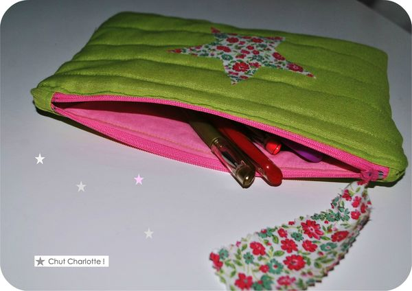 Pochette matelasse vert pomme (2)