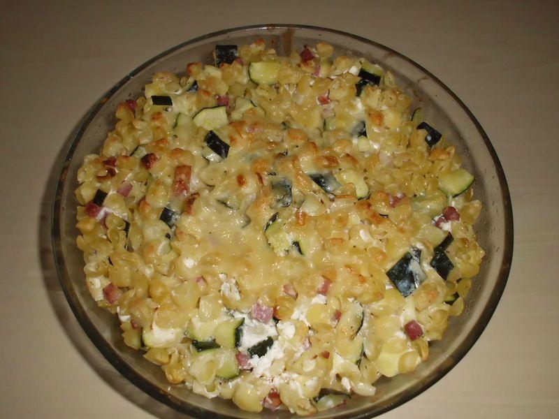 gratin de p 226 tes aux courgettes et lardons les exp 233 riences culinaires de chau7