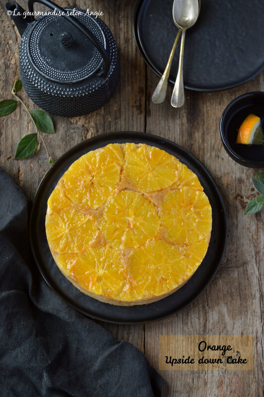 orange upside down cake vegan