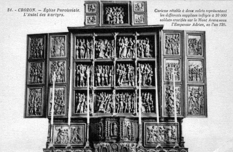 Crozon, retable des Martyrs
