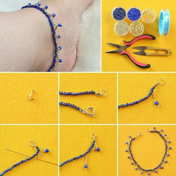 600-Pandahall-Summer-Jewelry---How-to-Make-a-Homemade-Blue-Seed-Beaded-Anklet