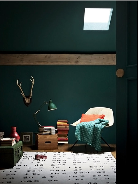 La question couleur vert bleu on ne sait plus for Chambre ado style british