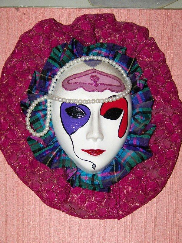 Masque Vénitien plâtre