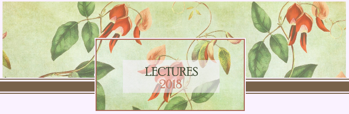 lECTURES 2018