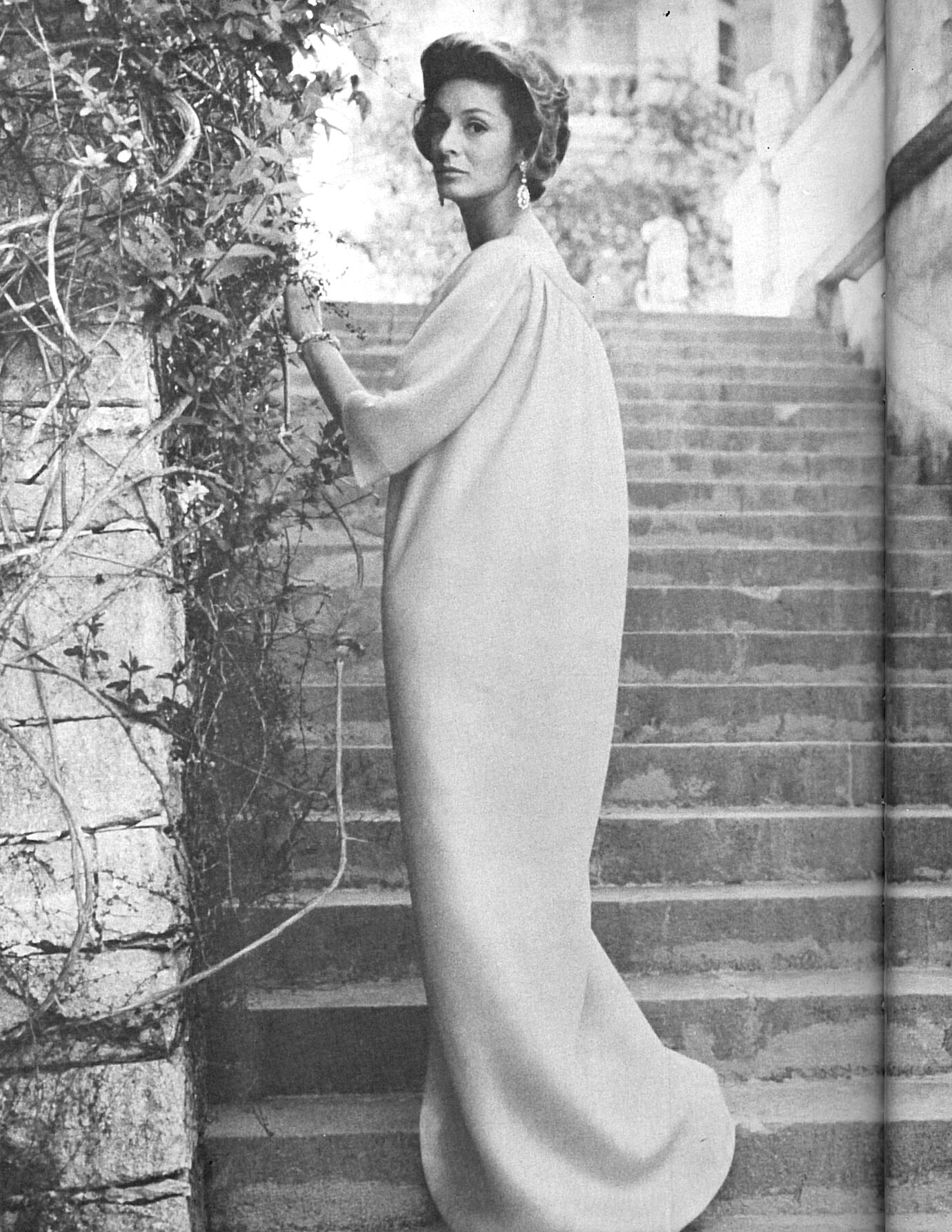 Marella Agnelli at the Villar Perosa in Turin, Italy.
