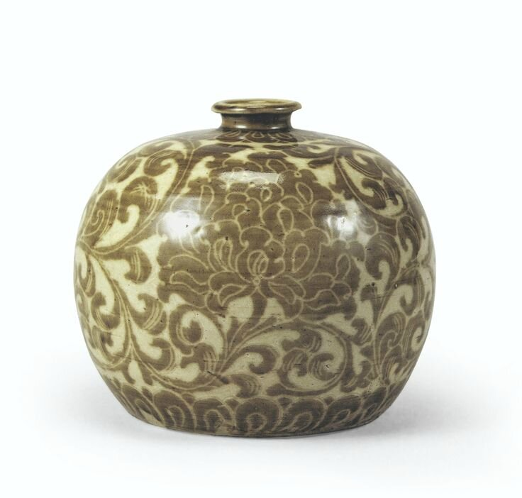 A Ding ware vase with peony design © 2014 All Rights Reserved by The Museum of Oriental Ceramics, Osaka