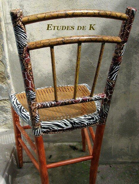 Chaise de dos