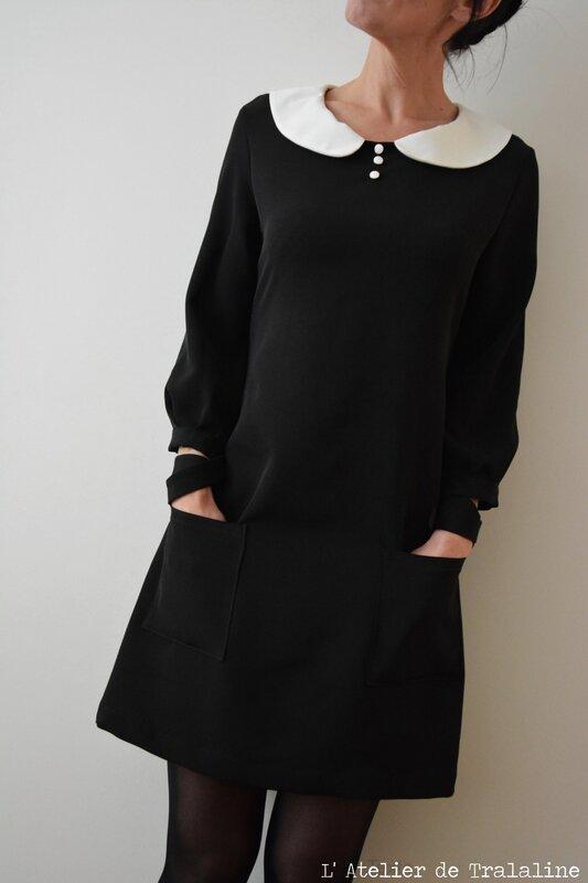 Tralaline robe col claudine (6)