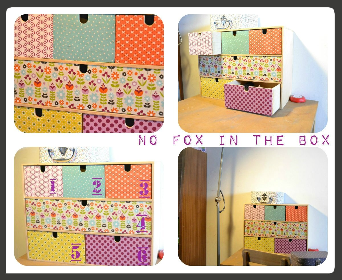 Pimp ta commode no fox in the box for Papier a coller sur meuble