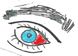 oeil dessin red