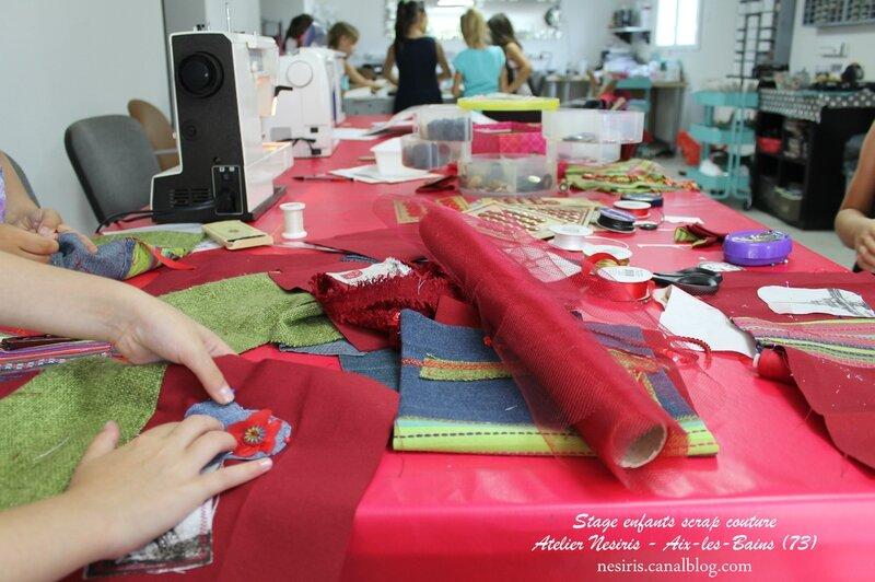 Stage enfants scrapbooking couture - atelier nesiris - aix-les-bains2
