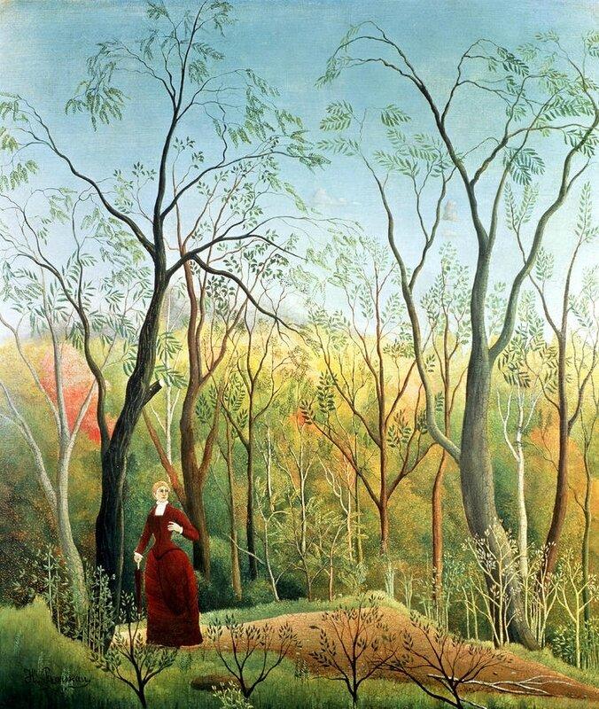 1718-15 Rousseau la promenade dans la forêt