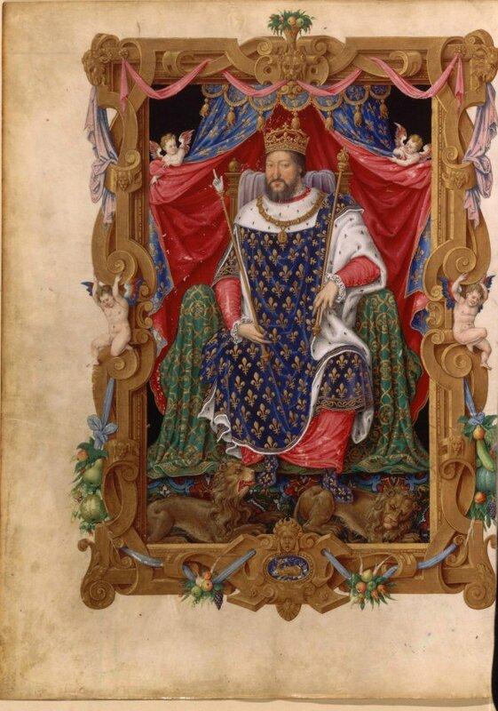 Maître des Heures de Henri II, Portraits de François 1er en habit de sacre