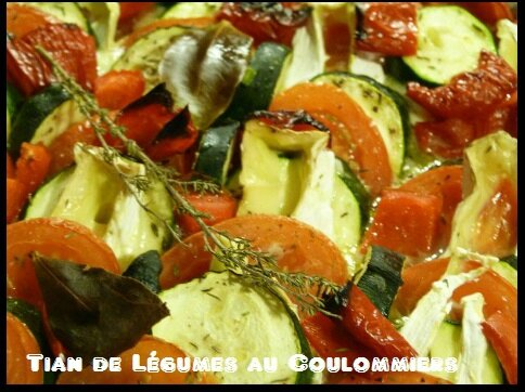 """ღ """" Miam """" Tian de Légumes au Coulommiers"""